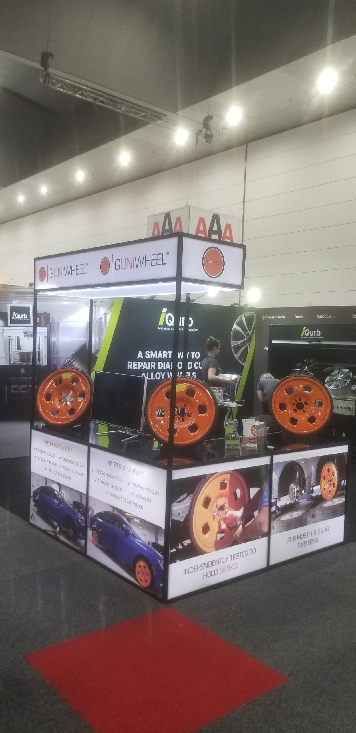 Guniwheel exhibition display